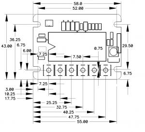ch-c0030pcb - Габаритные размеры