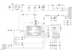 Схема простого вольтметра на печатной плате CH-C30PCB