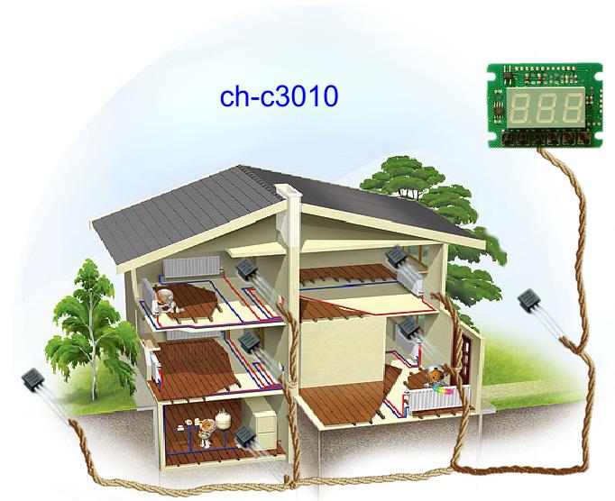 ch-c3010 - может измерять не только температуру во всем доме, но и на улице!