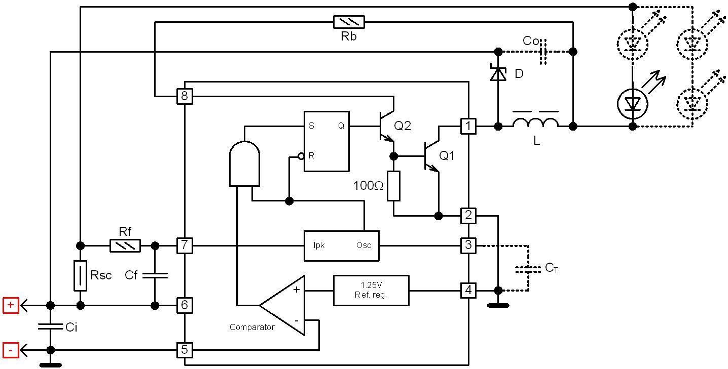 схема принципиальная драйвера для светодтода